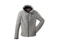 Grey Hooded Soft Shell Jacket
